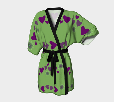 Heart Centered Kimono Robe by  Roxy Hurtubise Front