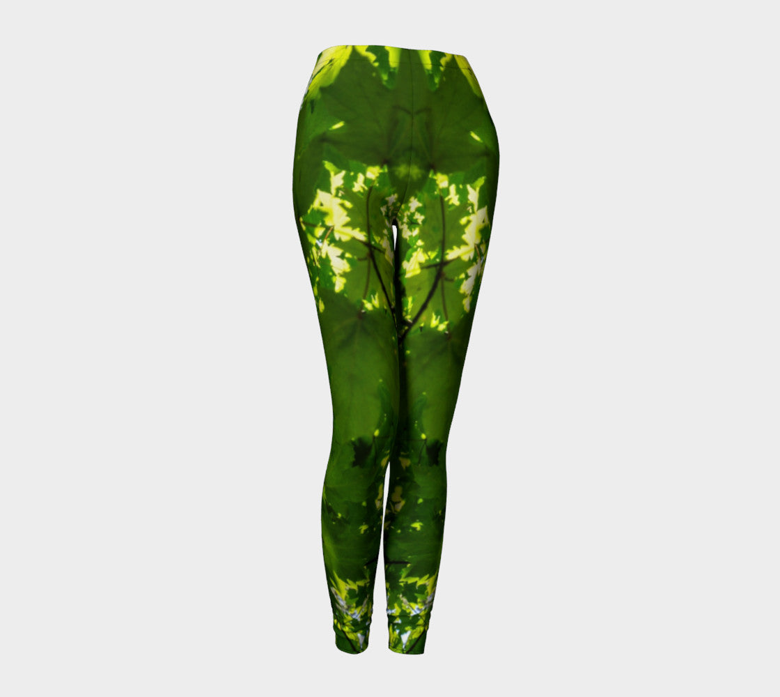 Canopy of Leaves Leggings by Roxy Hurtubise VanIsleGoddess.Com