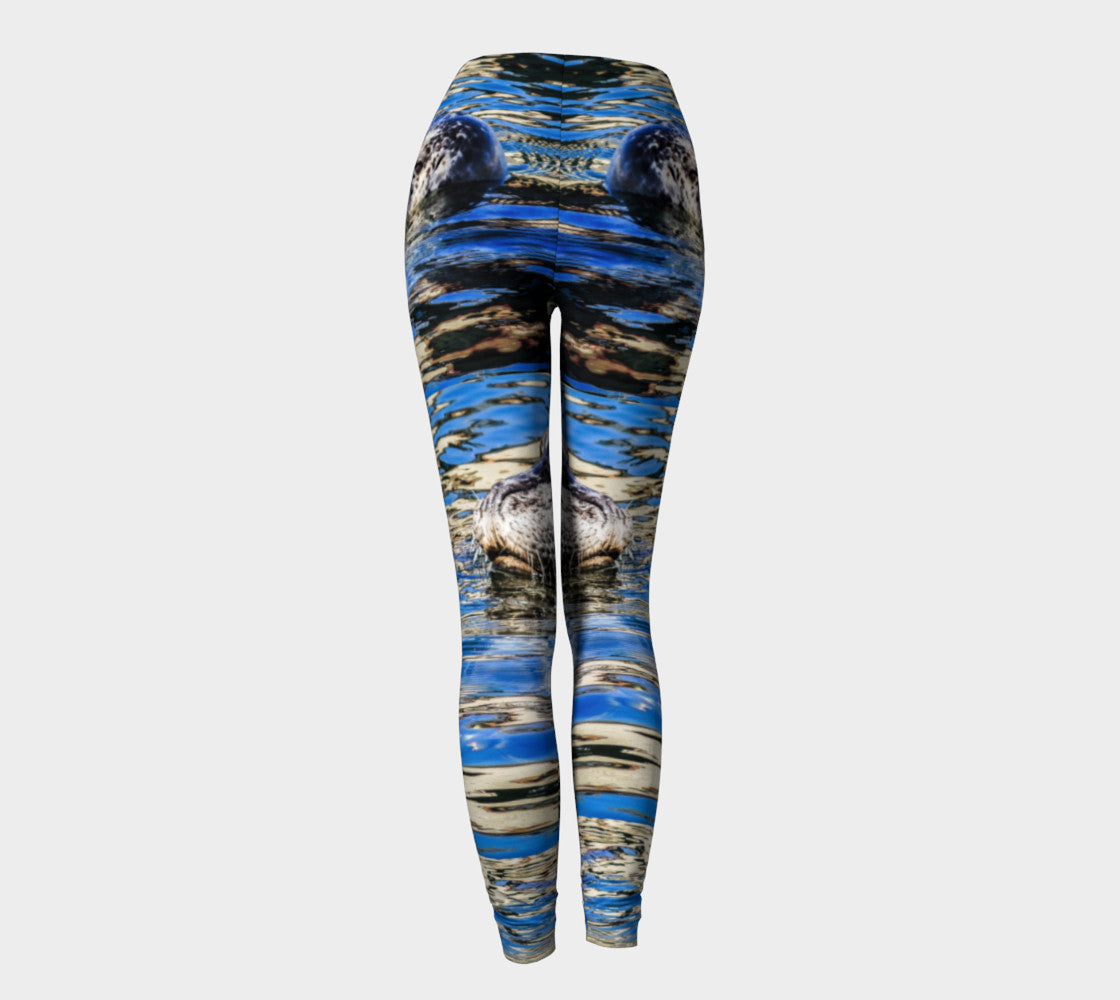 Seal Of Blue Leggings by Roxy Hurtubise back