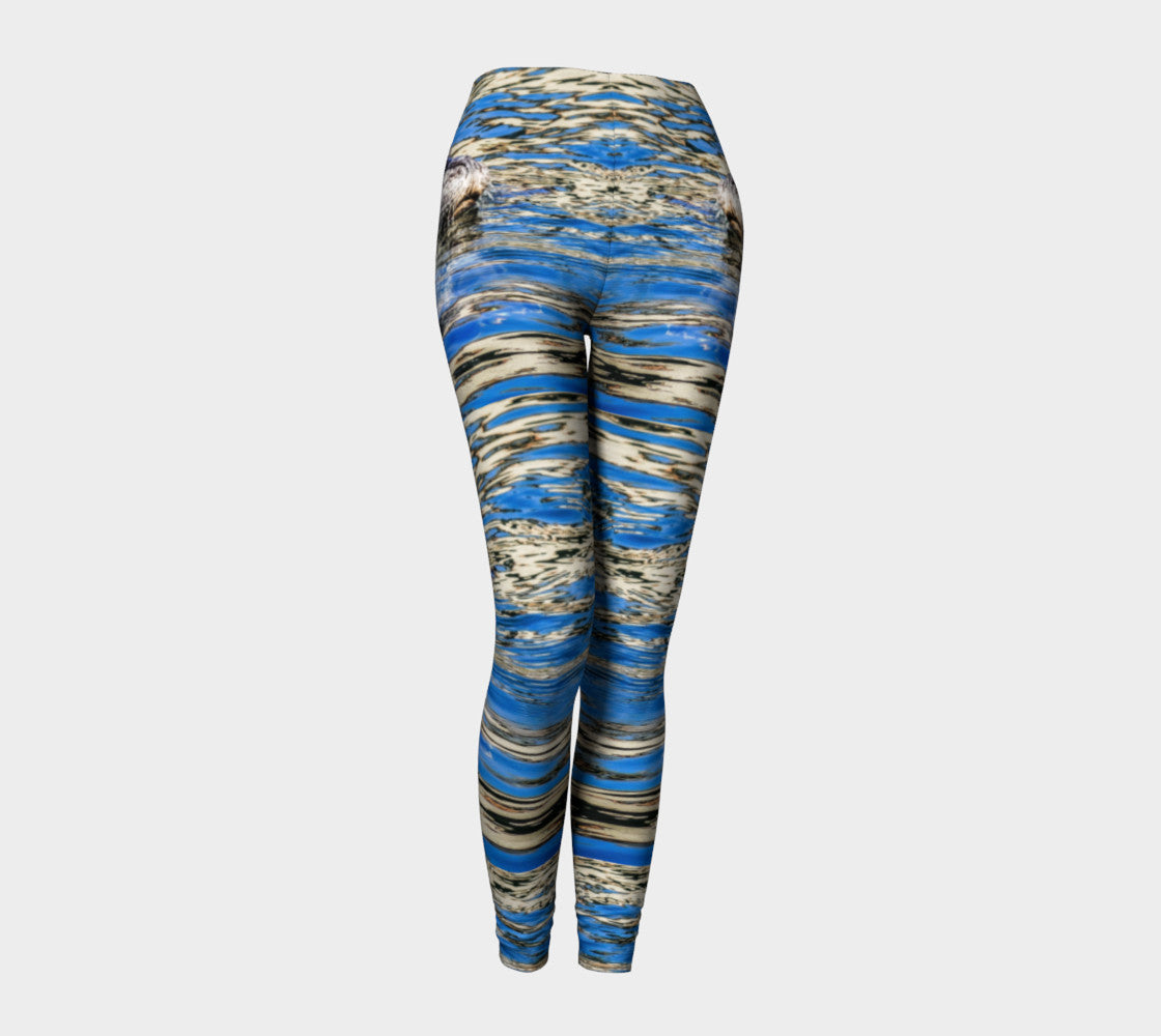 Seal Of Blue Leggings by Roxy Hurtubise front