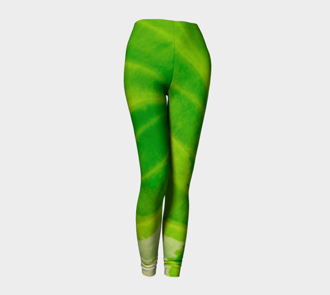 Hosta Green Leggings by Roxy Hurtubise front