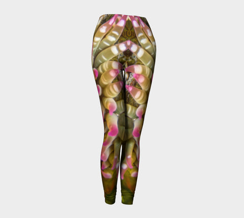 Enchanted Sea Anemone Leggings by Roxy Hurtubise Front