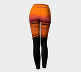 Saratoga Sunset II Leggings by Roxy Hurtubise back