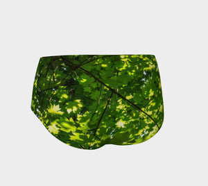 Canopy of Leaves Mini Shorts by Roxy Hurtubise vanislegoddess.com back