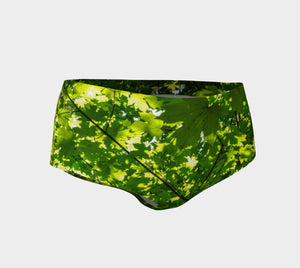 Canopy of Leaves Mini Shorts by Roxy Hurtubise vanislegoddess.com front