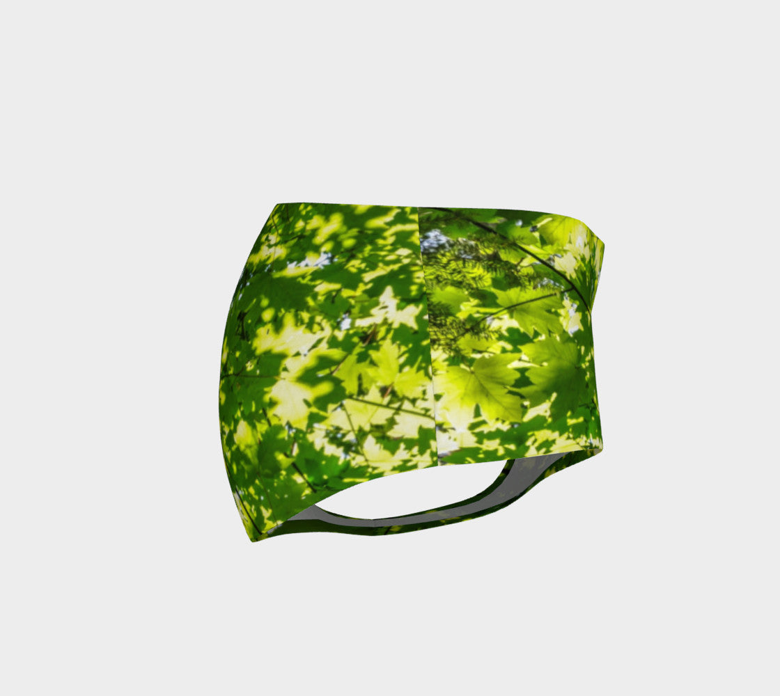 Canopy of Leaves Mini Shorts by Roxy Hurtubise vanislegoddess.com right side