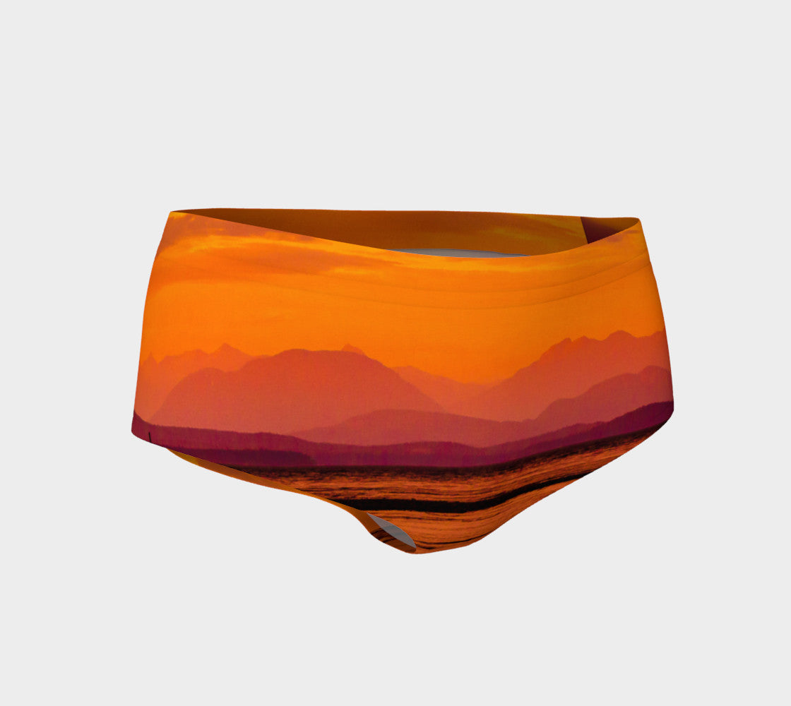 Saratoga Beach Sunset Mini Shorts by Roxy Hurtubise vanislegoddess.com front