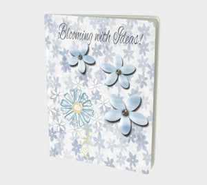 Blooming Notebook Large  Hand-bound   48 pages  Rich creamy white 70lb acid free paper  Scuff resistant Velvet ultra matte laminate cover  Two sizes to choose from by Roxy Hurtubise Vanislegoddess.com