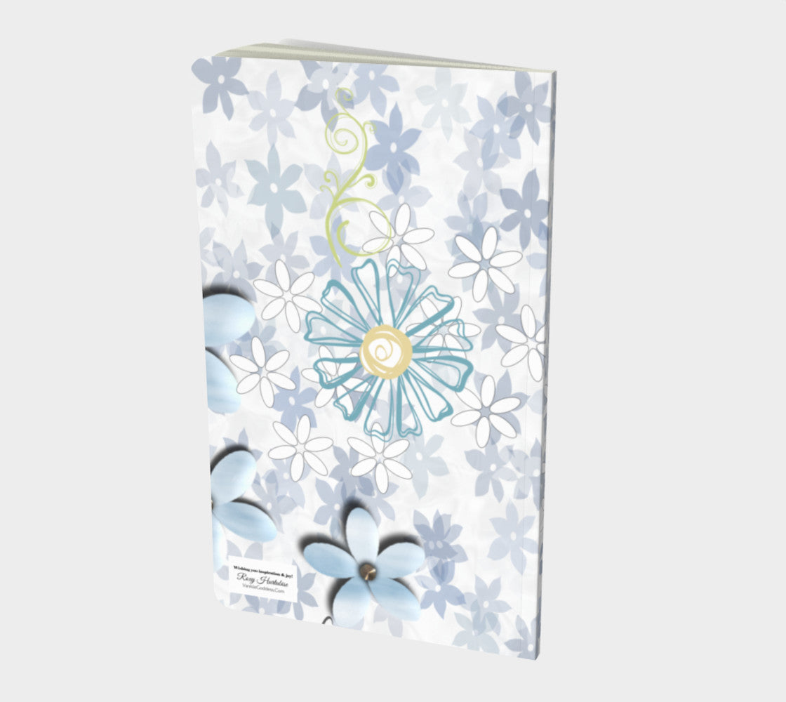 Blooming Notebook Small Hand-bound   48 pages  Rich creamy white 70lb acid free paper  Scuff resistant Velvet ultra matte laminate cover  Two sizes to choose from by Roxy Hurtubise Vanislegoddess.com