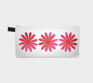 Reverse side Activated In White Pencil Case by Roxy Hurtubise