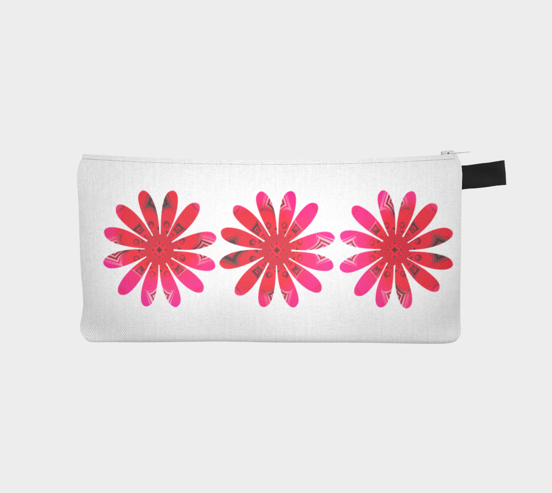 Activated In White Pencil Case by Roxy Hurtubise