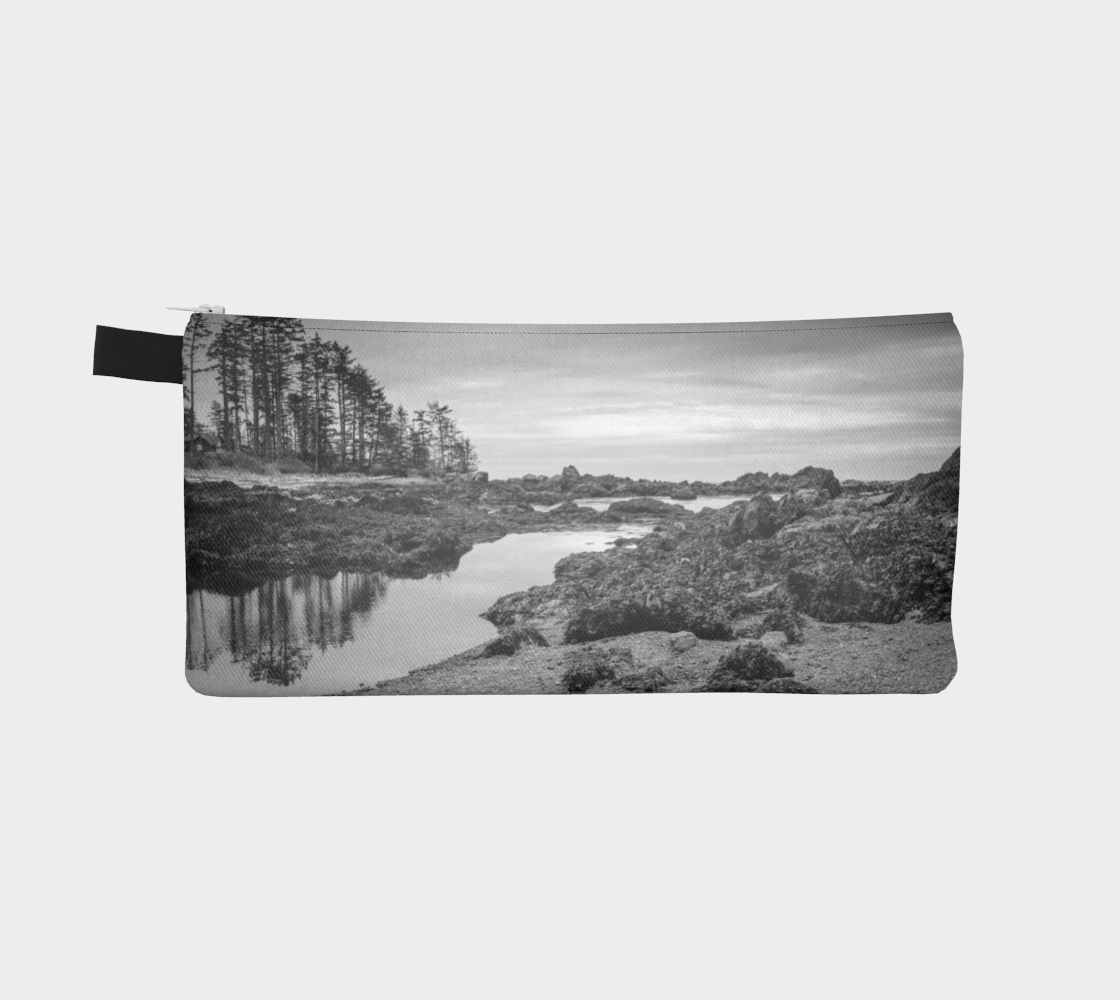 Reverse side Big Beach Ucluelet Pencil Case by Roxy Hurtubise vanislegoddess.com