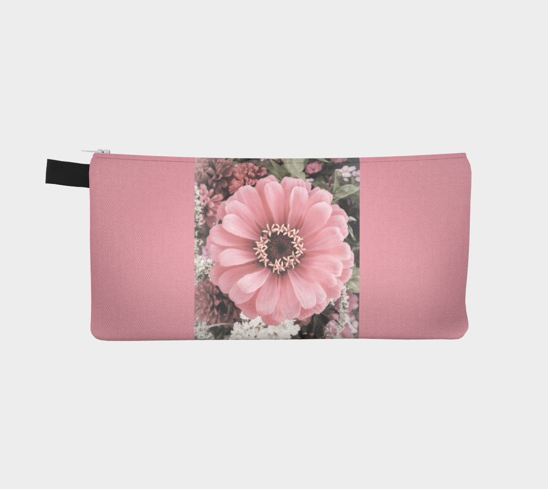 Reverse side Floral Delight Pencil Case by Roxy Hurtubise vanislegoddess.com