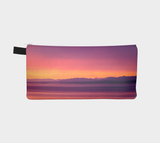 Vancouver Island Sunset multi use storage pencil case by Roxy Hurtubise vanislegoddess.com reverse side