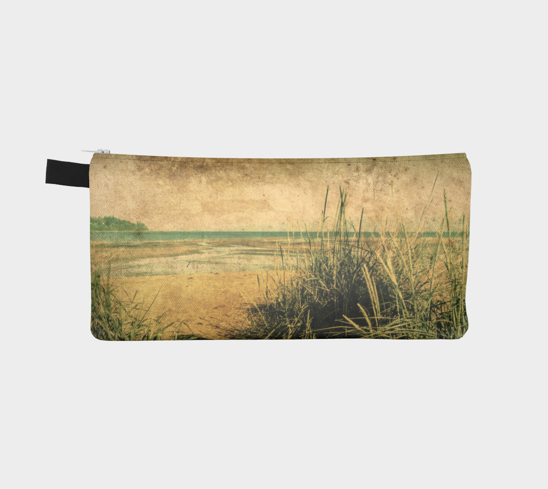 Vintage Beach multi use storage pencil case By Roxy Hurtubise vanislegoddess.com reverse side