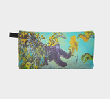 Starfish Paradise multi use storage pencil case by Roxy Hurtubise vanislegoddess.com reverse side