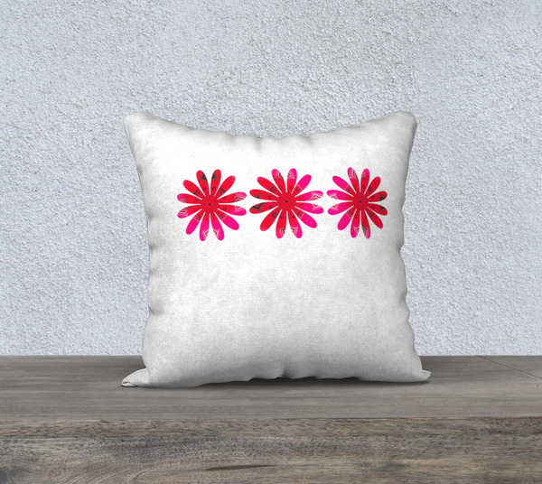 "Activated In White 18"" x 18"" Pillow Case by Roxy Hurtubise"