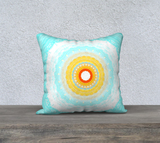 Summer Mandala 18 x 18 Pillow Case by Roxy Hurtubise VanIsleGoddess.Com available in velveteen or canvas fabric.