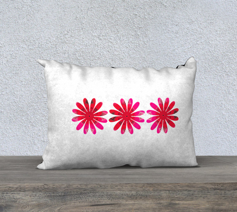 "Activated in White 20"" x 14"" pillow case by Roxy Hurtubise"