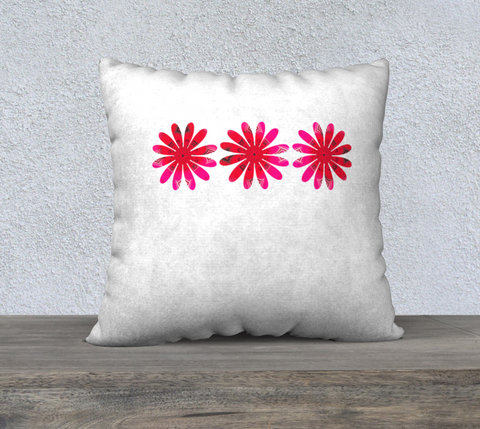 "Activated in White 22"" x 22"" Pillow Case by Roxy Hurtubise"