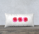 "Activated in White 24"" x 12"" Pillow Case by Roxy Hurtubise"