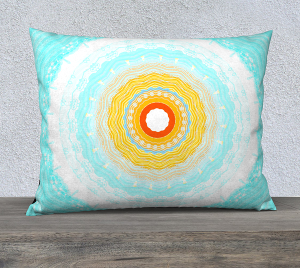 Summer Mandala 26 x 20 Pillow Case by Roxy Hurtubise available in five sizes, velveteen or canvas fabric vnanislegoddess.com