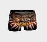 Sun Mask Totem Shorts by Van Isle Goddess of Vancouver Island