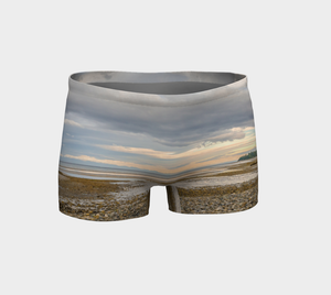 Miracle Beach Shorts Front by Van Isle Goddess of Vancouver Island