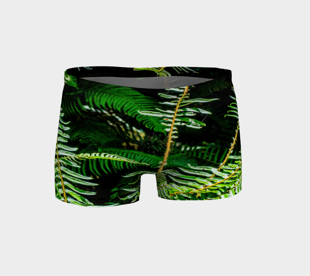 Rainforest Ferns Shorts by Van Isle Goddess of Vancouver Island