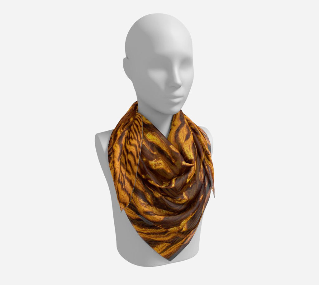"Golden Sand Square Scarf  Wear as a scarf or a shawl, use for home decor as a wall hanging, also makes a fabulous Wedding Party Gifts!    Artwork printed on 100% polyester lightweight fabric.  Choose from three different fabrics polychiffon, satin charmeuse and matte crepe.  Machined baby rolled edge hem finish.  Choose from 3 sizes:    16"" x 16""  Perfect size for Men's Pocket Square  26"" x 26""  36"" x 36"" by Vanislegoddess.com"