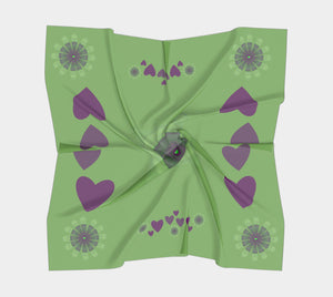 "Heart Centered II Square Scarf  Wear as a scarf or a shawl, use for home decor as a wall hanging, also makes a fabulous Wedding Party Gifts!    Artwork printed on 100% polyester lightweight fabric.  Choose from three different fabrics polychiffon, satin charmeuse and matte crepe.  Machined baby rolled edge hem finish.  Choose from 3 sizes:    16"" x 16""  Perfect size for Men's Pocket Square  26"" x 26""  36"" x 36"" by vanislegoddess.com"