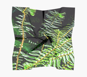"Rainforest Square Scarf  Wear as a scarf or a shawl, use for home decor as a wall hanging, also makes a fabulous Wedding Party Gifts!    Artwork printed on 100% polyester lightweight fabric.  Choose from three different fabrics polychiffon, satin charmeuse and matte crepe.  Machined baby rolled edge hem finish.  Choose from 3 sizes:    16"" x 16""  Perfect size for Men's Pocket Square  26"" x 26""  36"" x 36"" by vanislegoddess.com"