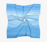 "Ocean Blue Square Scarf  Wear as a scarf or a shawl, use for home decor as a wall hanging, also makes a fabulous Wedding Party Gifts!    Artwork printed on 100% polyester lightweight fabric.  Choose from three different fabrics polychiffon, satin charmeuse and matte crepe.  Machined baby rolled edge hem finish.  Choose from 3 sizes:    16"" x 16""  Perfect size for Men's Pocket Square  26"" x 26""  36"" x 36"" by Roxy Hurtubise vanislegoddess.com"