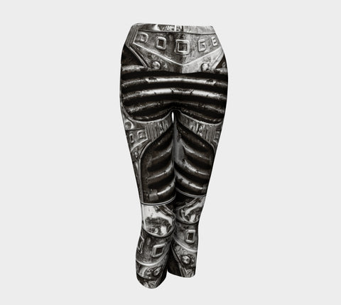 Dodge Girl II Yoga Capris by Roxy Hurtubise VanIsleGoddess.Com Front