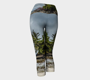 McKenzie Beach Yoga Capris by Roxy Hurtubise VanIsleGoddess.Com Back