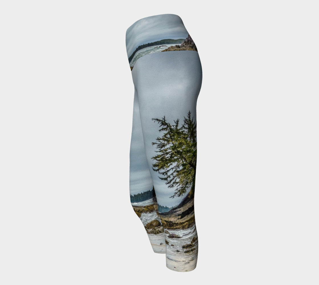 McKenzie Beach Yoga Capris by Roxy Hurtubise VanIsleGoddess.Com Side