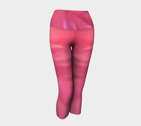 Soft Rose Yoga Capris by Roxy Hurtubise VanIsleGoddess.Com Front