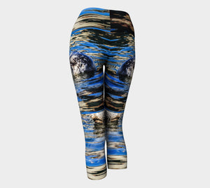 Seal of Blue Yoga Capris by Roxy Hurtubise VanIsleGoddess.Com Back