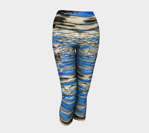 Seal of Blue Yoga Capris by Roxy Hurtubise VanIsleGoddess.Com Front