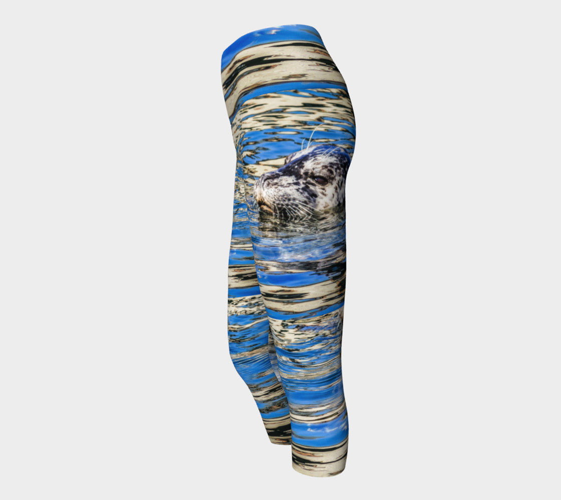 Seal of Blue Yoga Capris by Roxy Hurtubise VanIsleGoddess.Com Side