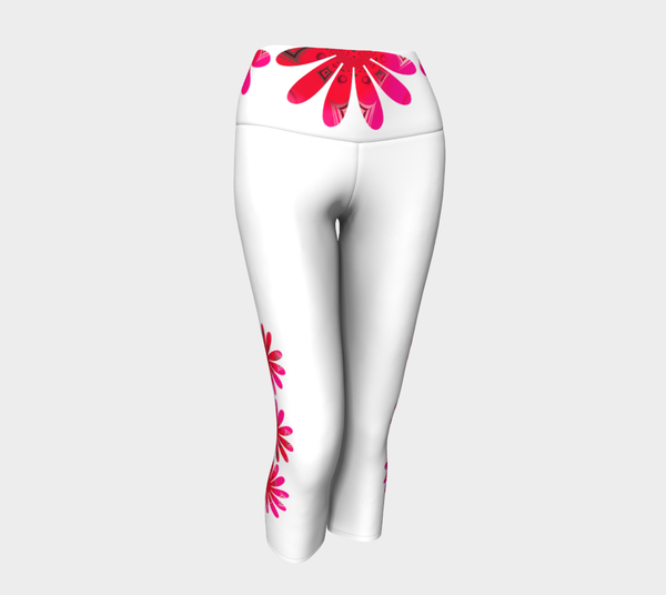 Activated In White Yoga Capris by Roxy Hurtubise VanIsleGoddess.com Front