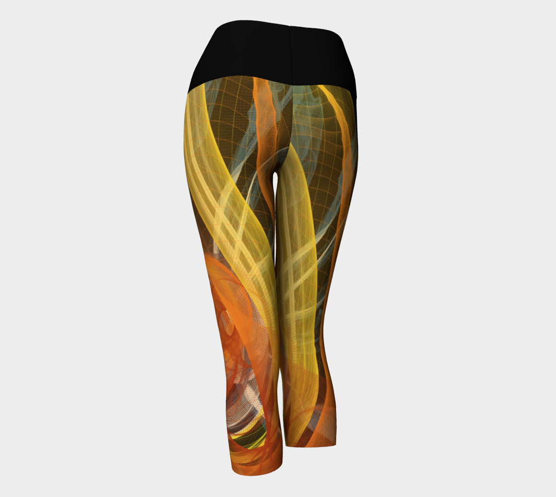 Celestial Yoga Capris by Roxy Hurtubise VanIsleGoddess.Com Back