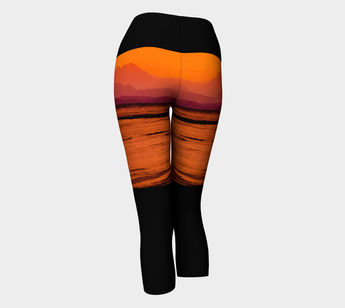 Saratoga Sunset II Yoga Capris by Roxy Hurtubise VanIsleGoddess.Com Back