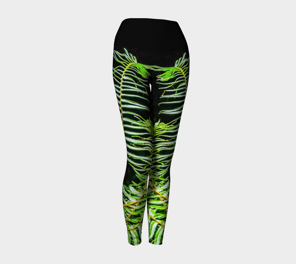 Rainforest Yoga Leggings by Roxy Hurtubise VanIsleGoddess.Com Front