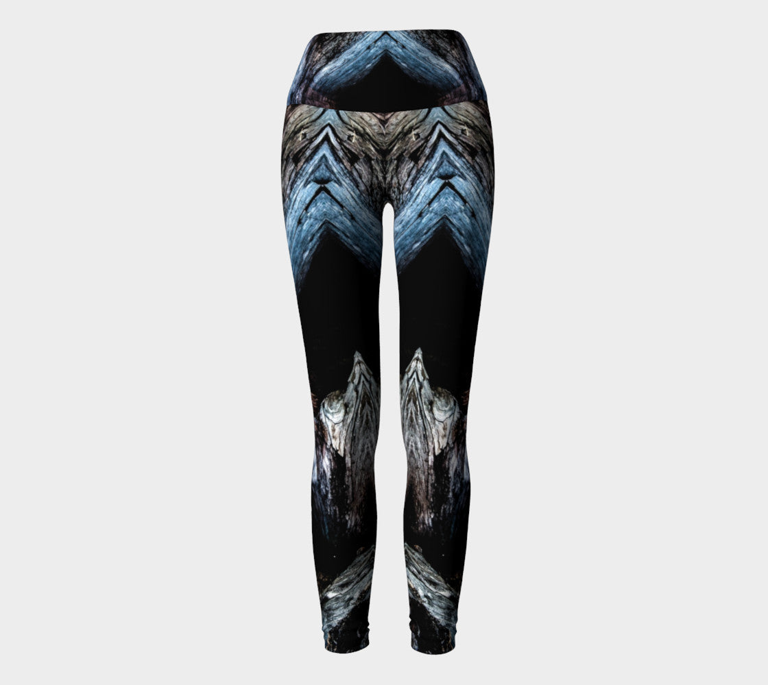 Driftwood Yoga Leggings by Roxy Hurtubise VanIsleGoddess.Com Full Front