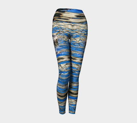 Seal Of Blue Yoga Leggings by Roxy Hurtubise VanIsleGoddess.Com Front