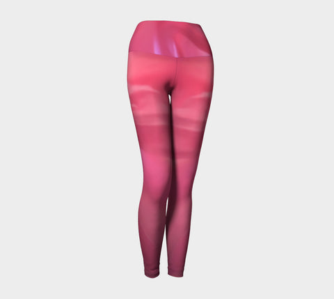 Soft Rose Yoga Leggings by Roxy Hurtubise VanIsleGoddess.Com Front