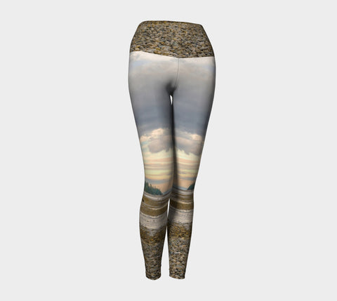 Miracle Beach Yoga Leggings by Roxy Hurtubise VanIsleGoddess.Com Front