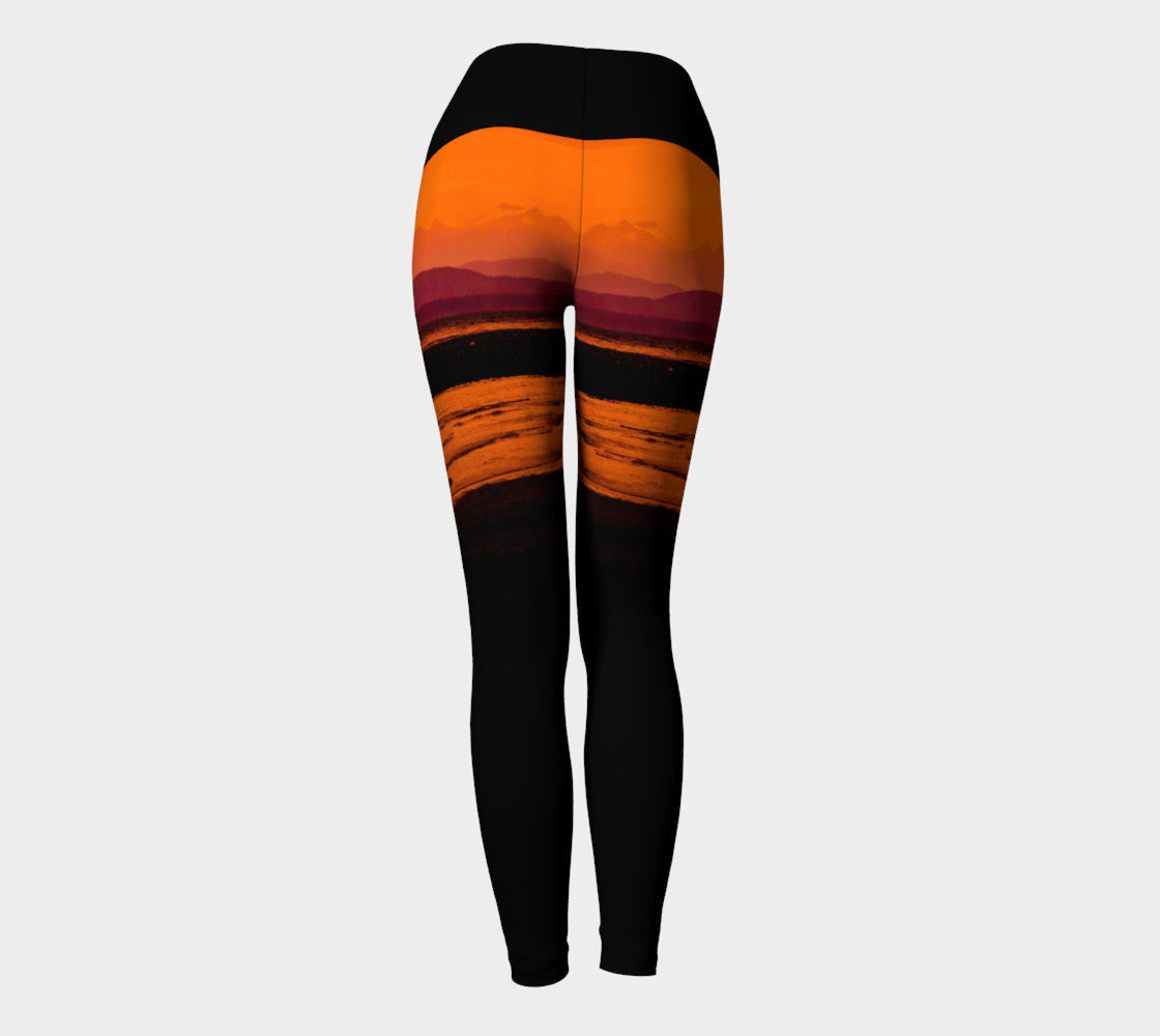 Saratoga Sunset Yoga Leggings By Roxy Hurtubise VanIsleGoddess.Com Back