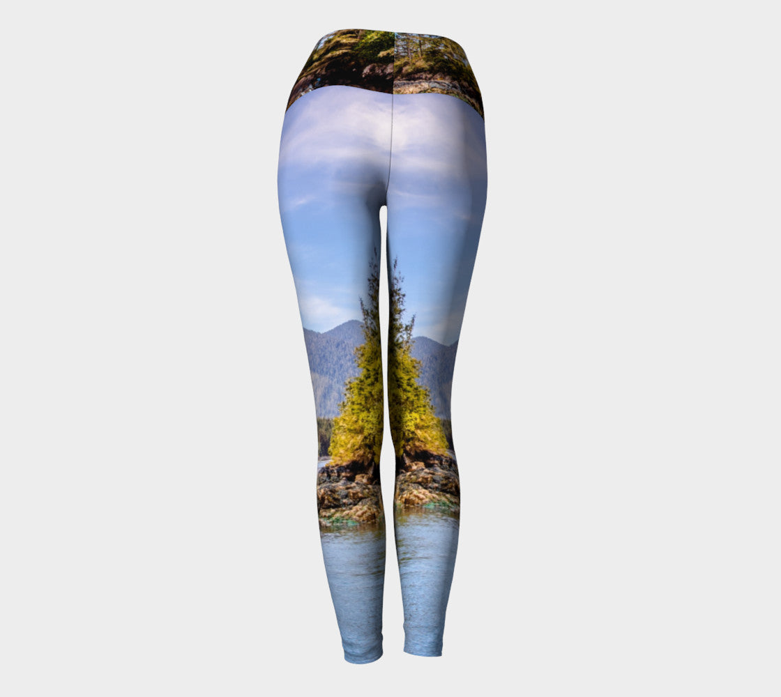 Tofino Inlet Yoga Leggings by Roxy Hurtubise VanIsleGoddess.Com Back
